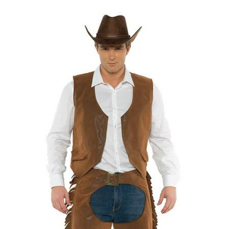 Bandit Town Halloween (Cowboys Mens Adult Brown Western Bandit Halloween Costume)