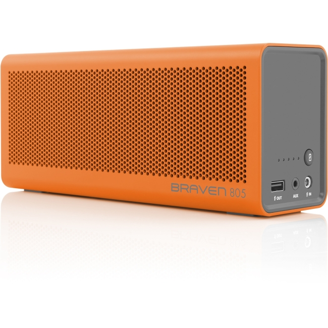 Braven 805 Portable Wireless Speaker - Orange/Gray