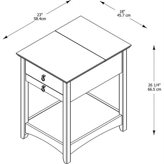 4e4f1e7a2d6 Bush Furniture Buena Vista Laptop End Table in Madison Cherry - Walmart.com