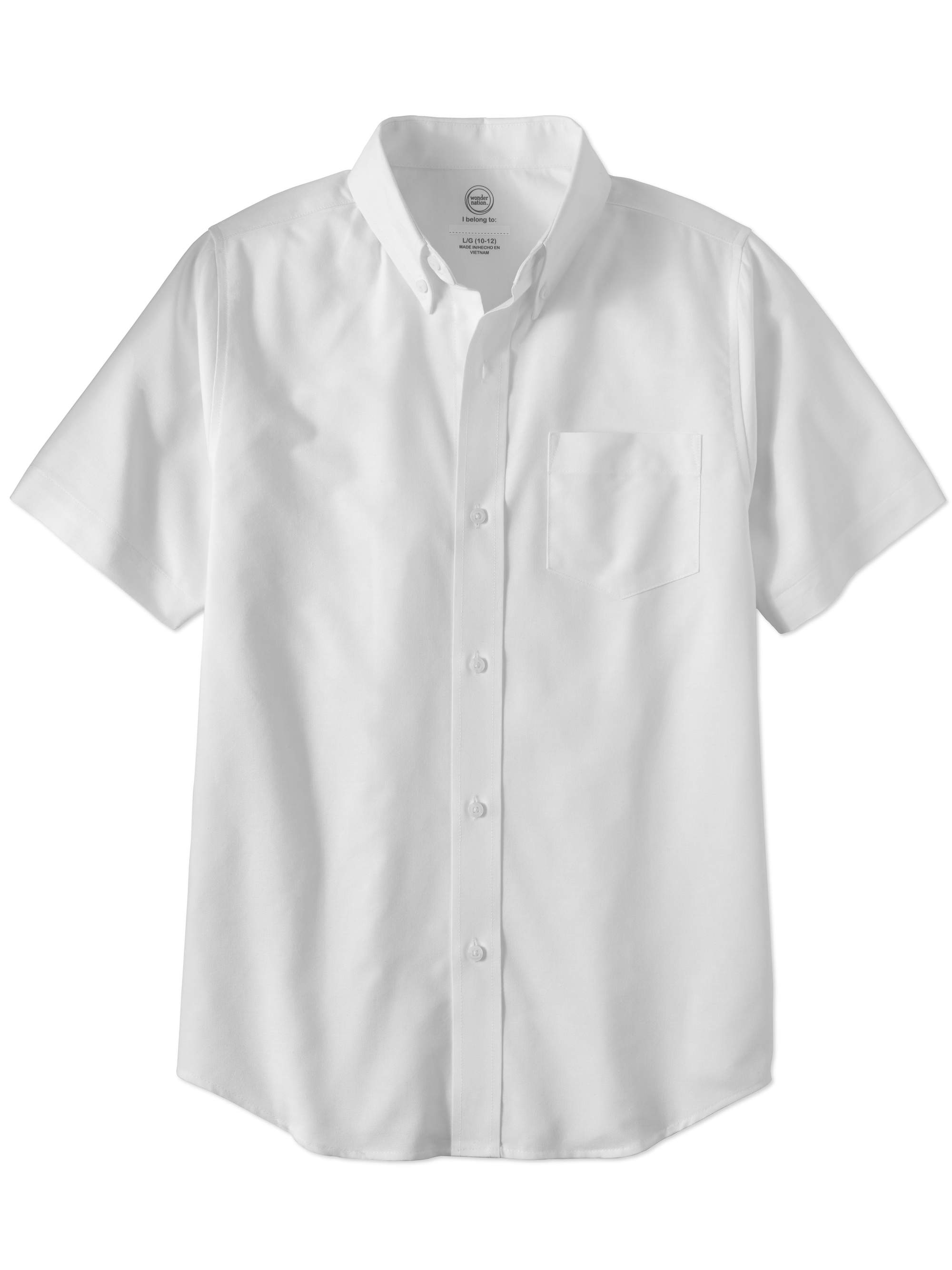 Boys School Uniform Short Sleeve Oxford Shirt