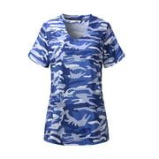 Women's Loose Camouflage Short Sleeve  Basic T-Shirts