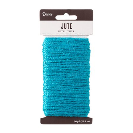 Darice Dyed Jute Cord: Turquoise, 1.5Mm X 30 Yards