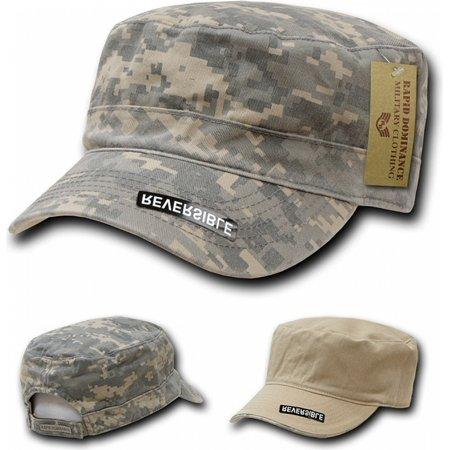 RapDom Reversible Flat Top Mens Cadet Cap [Universal Digital - Adjustable]