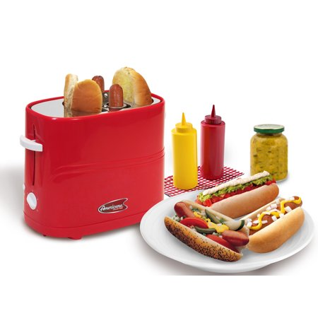 Elite Cuisine Americana by Elite 2 Slice Hot Dog Toaster, Red