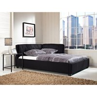 Tufted Lounge Reversible Bed, Black, Multiple Sizes