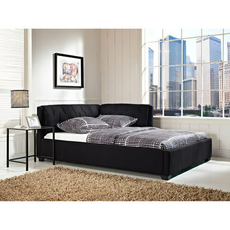 Tufted Lounge Reversible Bed, Black, Multiple - Twin Lounger