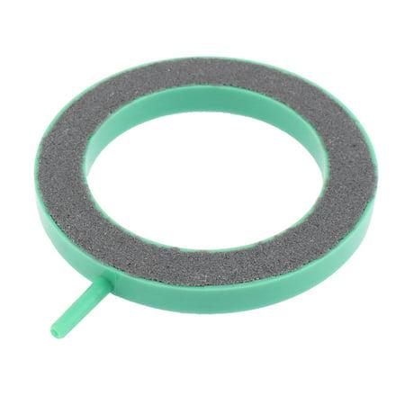 Unique BargainsAquarium Fish Tank Pond Pump Air Stone Bubble Disk Aerator 10cm Dia Green
