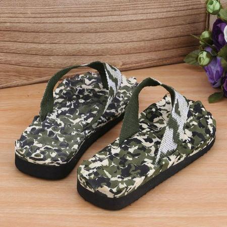 616e33745945f Men Camouflage Flip Flops Shoes Sandals indoor & outdoor Slippers