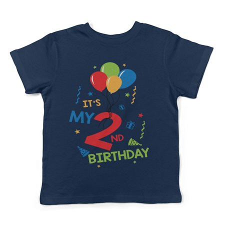 Lil Shirts It's My 2nd Birthday Toddler T-Shirt - Boys (Today It's My Birthday)
