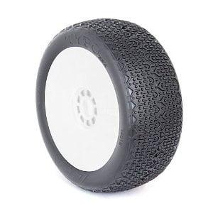 1/8 Buggy Typo Clay EVO Wheel Mounted White - Clay Wheel