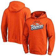 Men's Fanatics Branded Orange Denver Broncos Super Sweep Pullover Hoodie