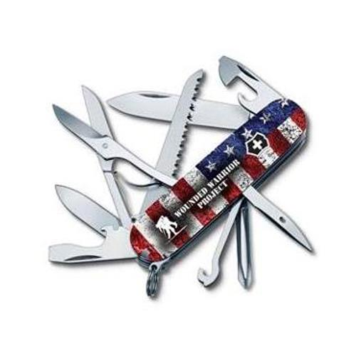 Swiss Army Fieldmaster 91mm Pocket Knife, American Flag with Wounded Warrior Project Logo