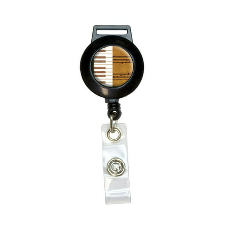 Piano Keys and Scales Gold - Music Notes Sheet Music Retractable Badge Card ID (Best Digital Piano With Notes Holders)