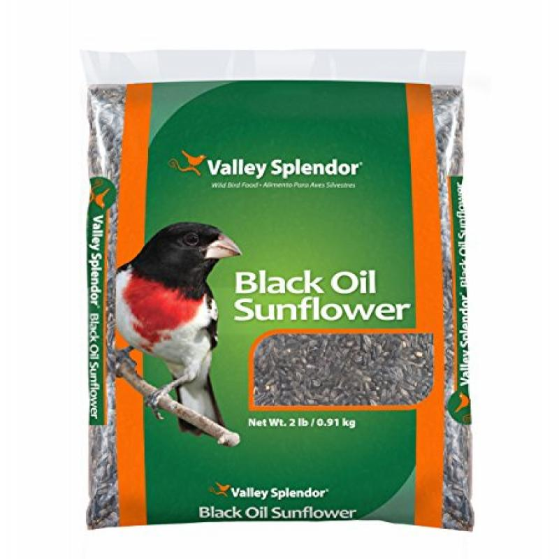 Valley Splendor Black Oil Sunflower Seeds Bag, 2 lb