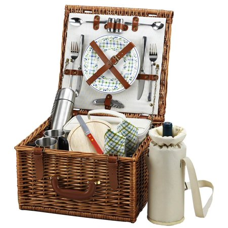 Picnic Coffee Set - London Cheshire Picnic Basket for Two with Coffee Set