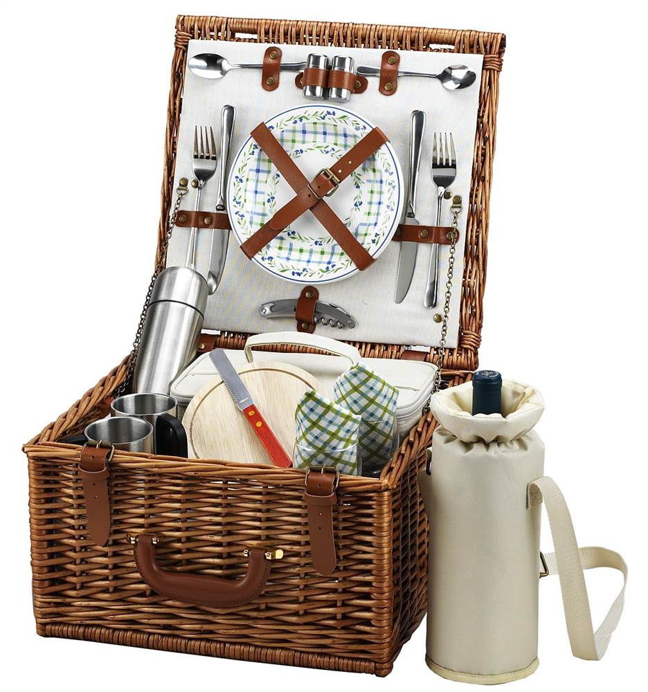 London Cheshire Picnic Basket for Two with Coffee Set