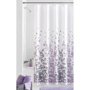 Popular Bath Jasmine Plum 70 X 72 Fabric Bathroom Shower Curtain