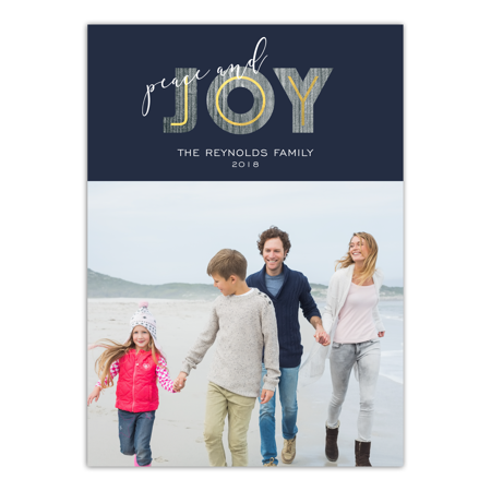 Personalized Holiday Photo Card - Modern