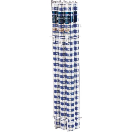 Blue Gingham Banquet Roll, each (Blue Gingham Plastic Tablecloth)
