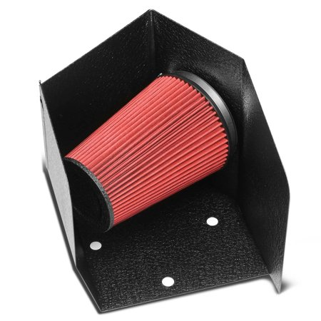 For 1994 to 2002 Dodge Ram Air Intake System+Black Coated Aluminum Heat Shield - L6 BR BE 95 96 97 98 99 00