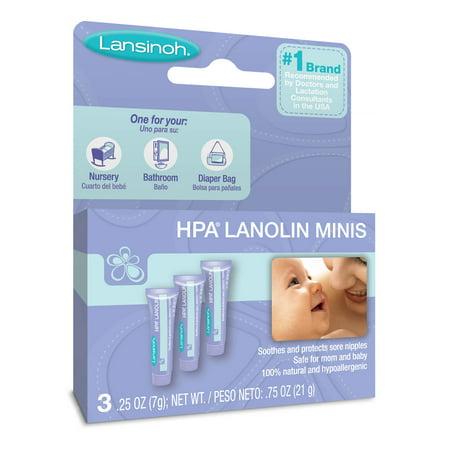 (Lansinoh HPA Lanolin Minis 0.25 oz. (7g), 3 count 0.25 oz. each)