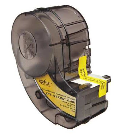 BRADY XPS-125-CONT-YL-BK Label Cartridge,Black/Yellow