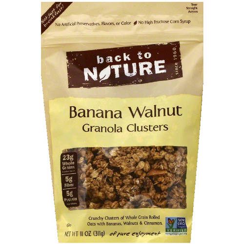 Back to Nature Banana Walnut Granola Clusters, 11 oz, (Pack of 6)