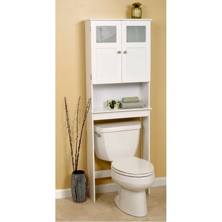 Wood Space Saver  WhiteWood Space Saver  White   Walmart com. Space Saver Toilet Dimensions. Home Design Ideas