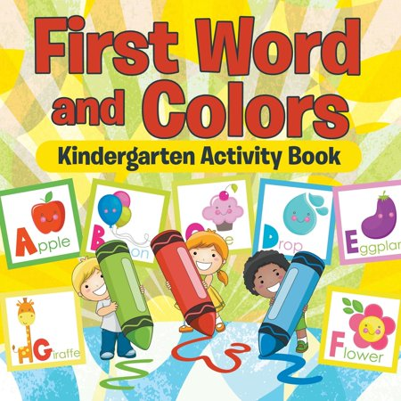 First Words and Colors Kindergarten Activity Book for $<!---->