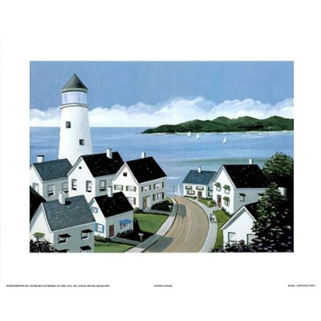 Lighthouse Point l Mini Poster - 10x8