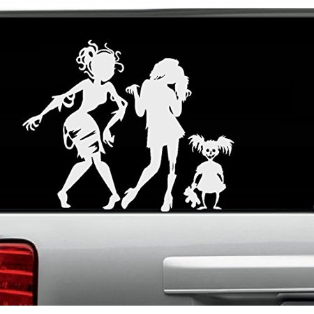 Decal ~ Zombie Girls (Ghouls) Gone Wild #2 ~ Wall or Auto Decal THREE SILHOUETTES 13