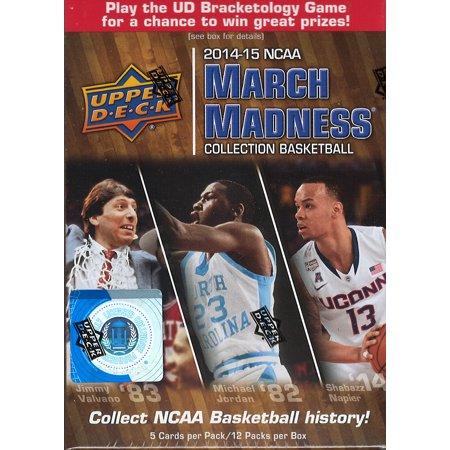 2014 2015 Upper Deck NCAA NBA March Madness Basketball Series Unopened Blaster Box Made with 60 Cards Per Box and Chance for Autograph (Upper Deck Basketball Box)