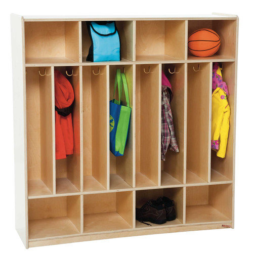 Wood Designs 1 Tier 8-Section Space Saver Locker