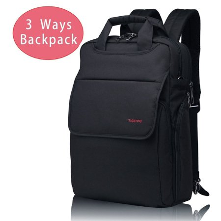 Lightweight Slim Best Laptop Backpack Convertible Black Business Travel College Macbook Computer Backpack Most Fits 14 Inch (Best Backpacks For College)
