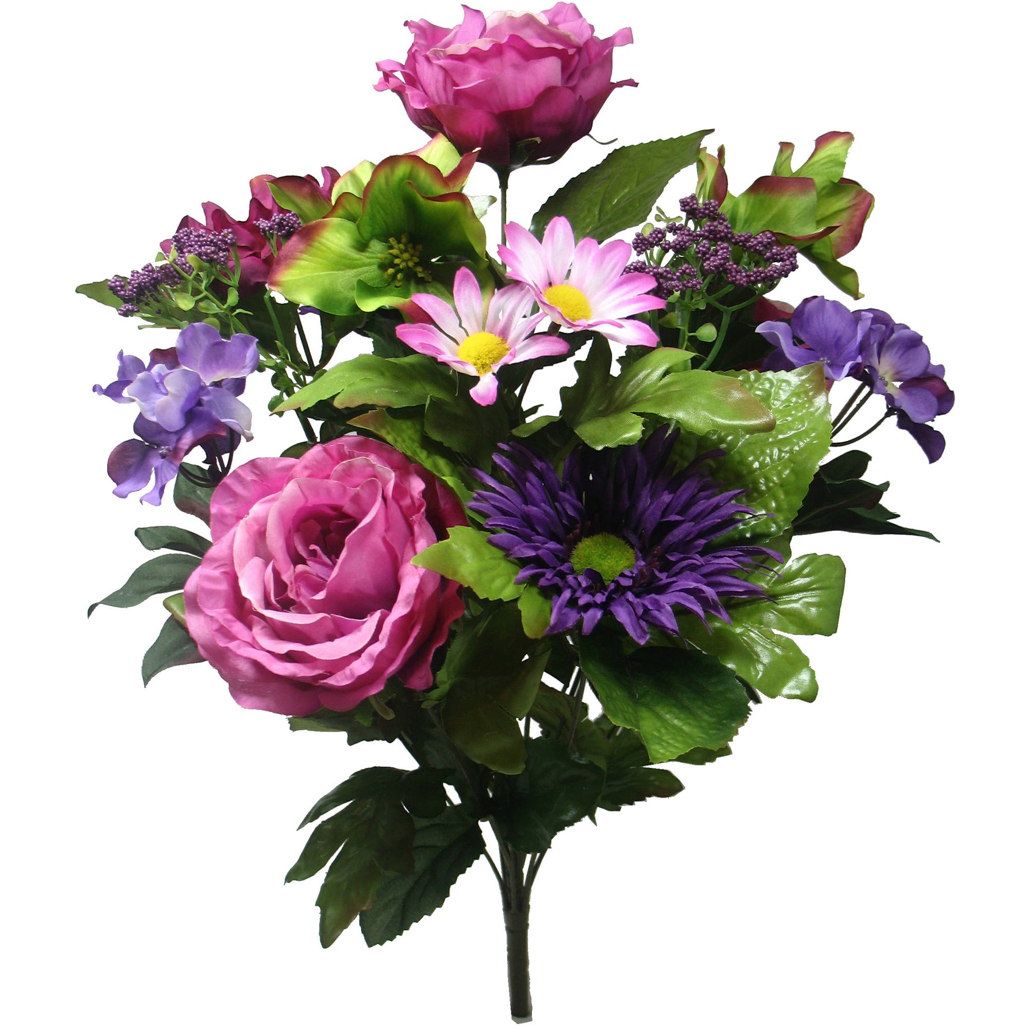 Purple Cabbage Rose Mixed Bouquet
