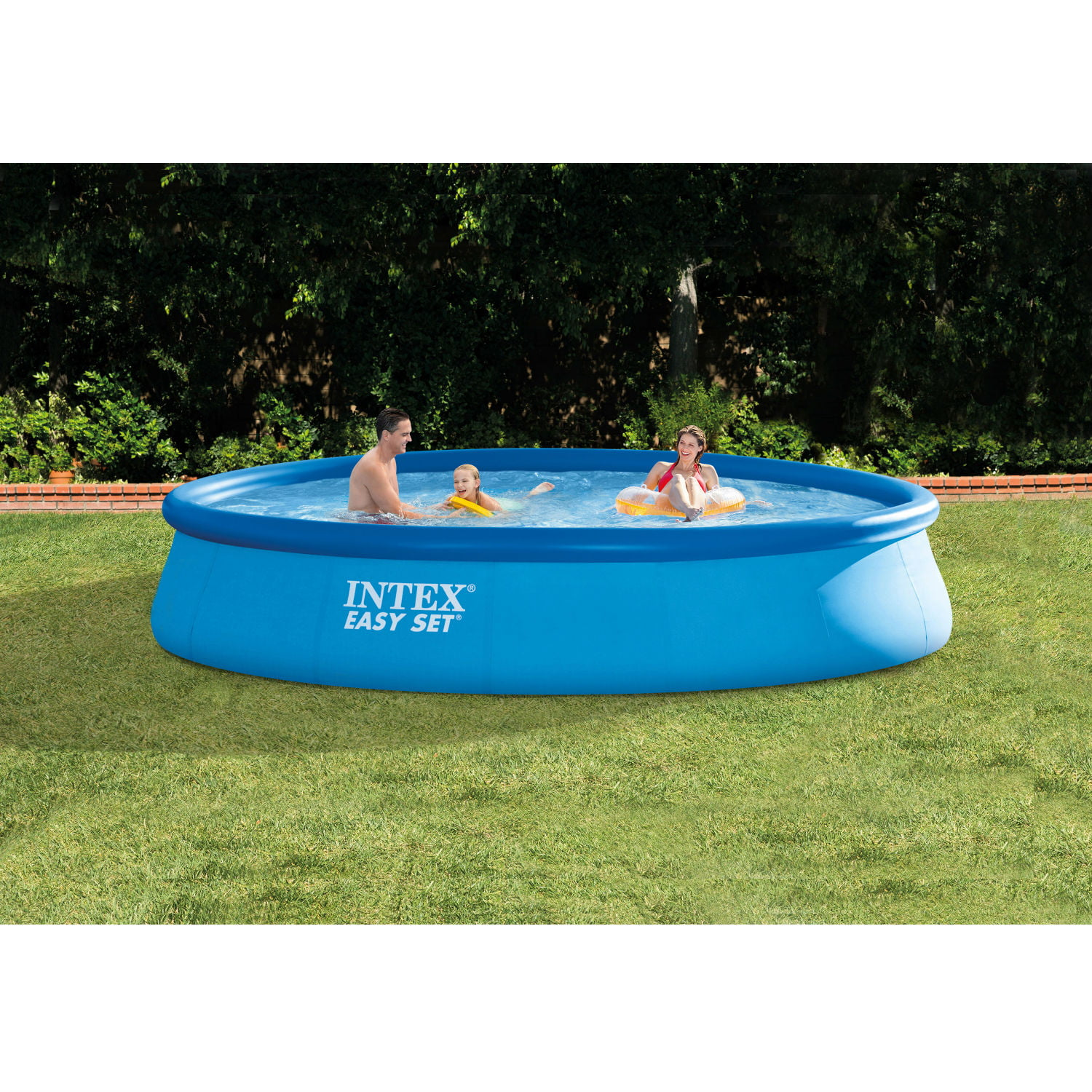 intex 13 x 33 easy set above ground swimming pool with
