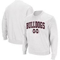 Mississippi State Bulldogs Colosseum Arch & Logo Crew Neck Sweatshirt - White