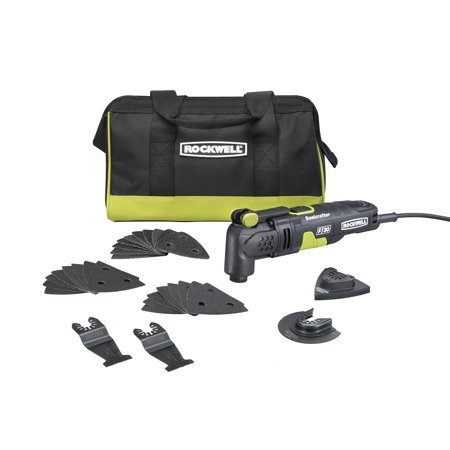 Rockwell RK5132K Sonicrafter F30 3.5 Amp Oscillating Multi-Tool 32-Piece Kit with Bag, Variable Speed, Hyperlock Clamping, Low Vibration and Universal Fit
