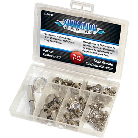 Marine Metal Body (Shoreline Marine Canvas Fastener Kit 47 Pcs)