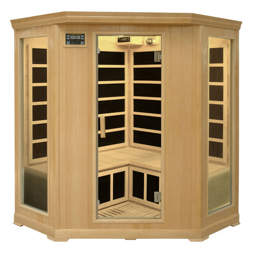 Crystal Sauna Family Series 3-4 Person Corner Carbon FAR Infrared Sauna by Crystal Sauna
