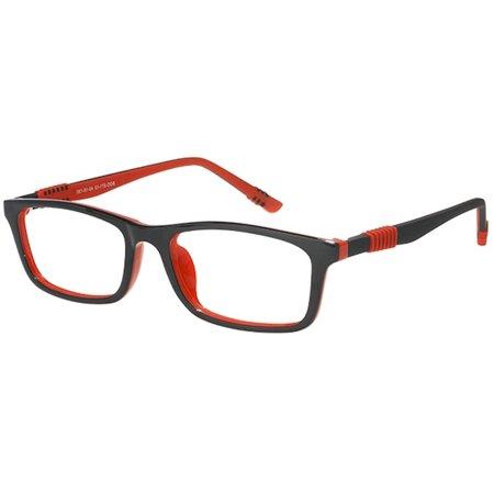Bocci Boy's Eyeglasses 371 13 Red Full Rim Optical Frame 49mm ()