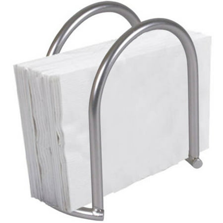 - Home Basics Simplicity Collection Napkin Holder, Satin Nickel