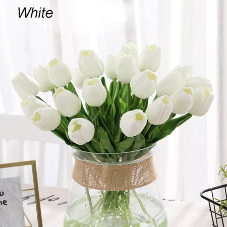 Artificial Tulips Real Touch Fake Flowers Arrangement Bouquet For Home Room Office Wedding Party 5 10pcs