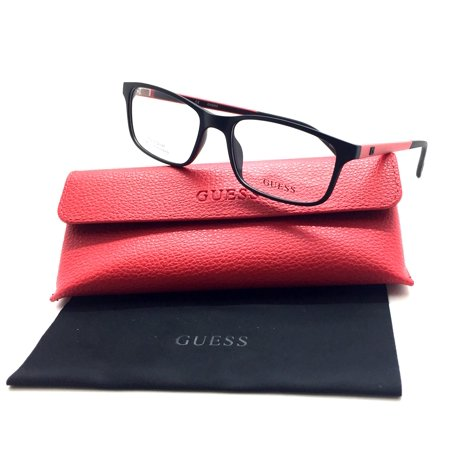 Guess Eyeglasses GU1872 GU/1872 002 Black/Red Full Rim Optical Frame -