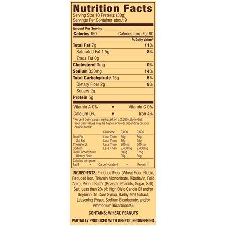 Snyder's of Hanover Filled Pieces Peanut er Filled Pretzel ... on capri sun nutritional information, peanut m & m's nutritional information, coca-cola nutritional information,
