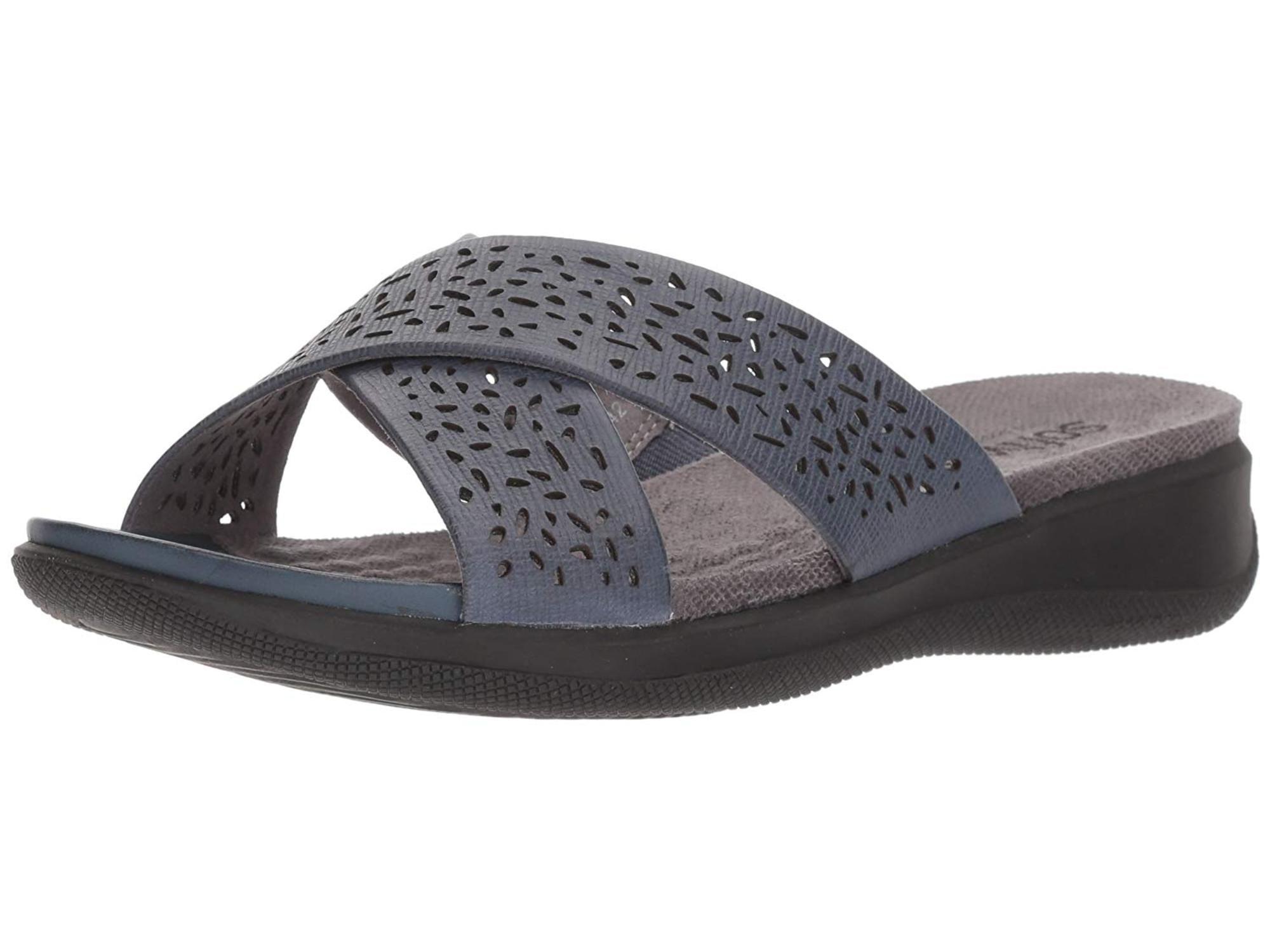 SoftWalk Womens tillman Fabric Open Toe Casual Slide Sandals by SoftWalk