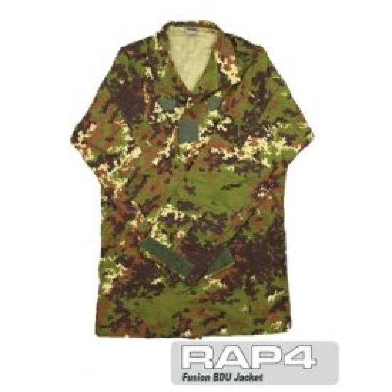 RAP4 Italian Camo BDU Jacket 2X Large - paintball apparel
