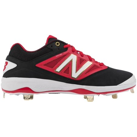 New Balance Men's 4040 V3 Metal Baseball Cleats (Black/Red, (Black Metal Baseball Cleats)