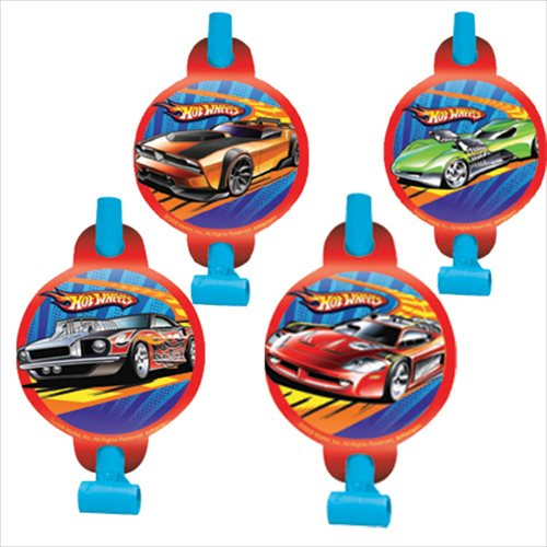 Amscan BB102890 Hot Wheels Party Blowers - 8-Pack