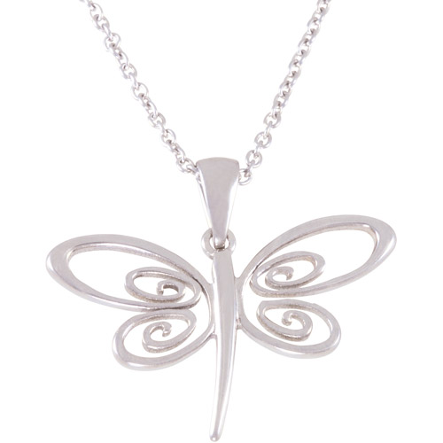 "Connections from Hallmark Stainless Steel Dragonfly Pendant, 18"" with 2"" Extender"